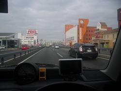 岡山市を通過