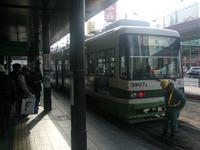 宮島口行きの路面電車