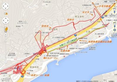 尾道散策マップ