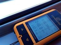 GPSロガーで新幹線の速度を測定