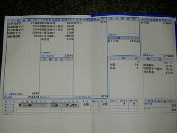 賃金支払明細票 6月分 トヨタ自動車