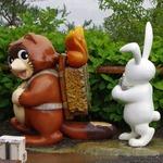 天上山公園のウサギとタヌキ2