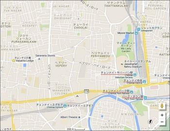チェンナイ中央駅周辺