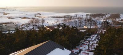 砂丘センターの屋上からの鳥取砂丘