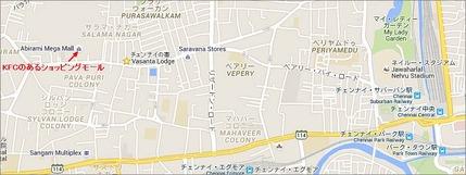 Abirami Mega Mallの地図