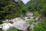 昇仙峡の峡谷の岩2