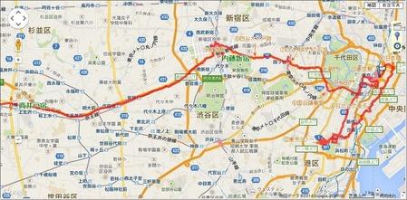 日本橋~新宿駅