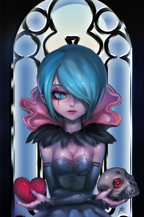 gothic_chibi_orianna_by_ptcrow-d7qm19l