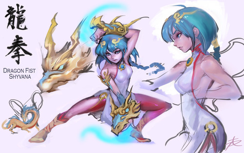 concept_skin__dragon_fist_shyvana_by_ptcrow-d7kuhk4