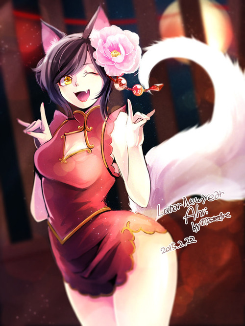 lunar_new_year_ahri_by_mizoreame-d8j3ats