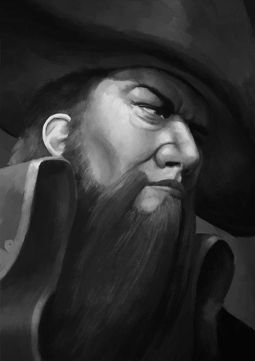 portrait_sketch___gangplank_by_artofbeng-d95h4tu