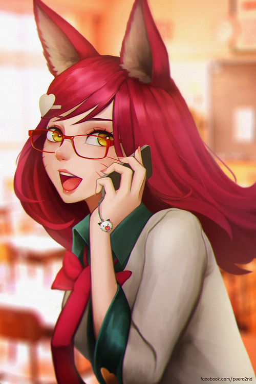 academy_ahri_with_red_glasses_by_sanilea-d9adxh2