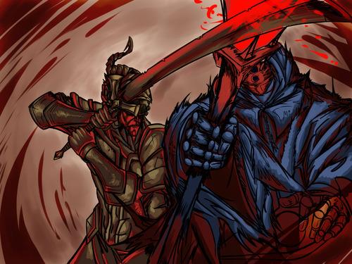 League-Of-Legends-Master-Yi-VS-Jax-Fan-Art