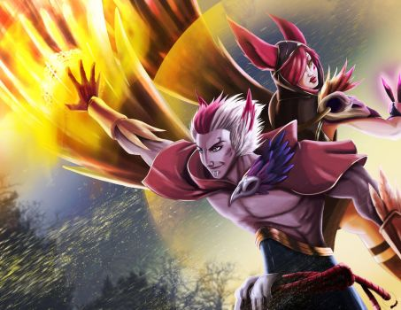 xayah_y_rakan___new_champion_league_of_legend_by_patoiv-db4tfvd