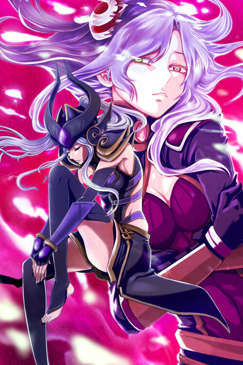 Irelia-and-Syndra-Fan-Art-by-Wokamy