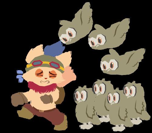 god_damn_owls___teemo_fan_art_by_kawaiimae-d8d85tf