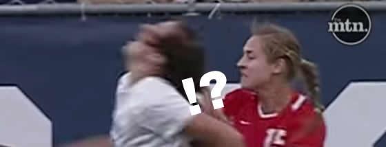 女子サッカーのラフプレーが想像以上に激しい