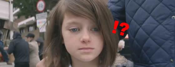 秒間で流れる一日ごとの少女の表情が変わっていくショッキング映像