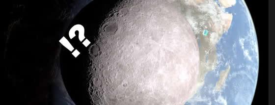 月の裏側(ダークサイド)から地球を眺めて見る