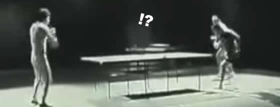 ヌンチャクで卓球
