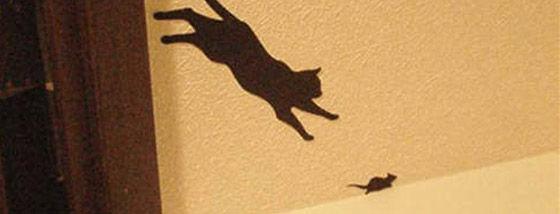 猫のステッカー