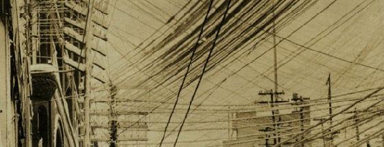 1887年ニューヨークの電線