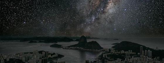 都市の明かりを消した時に、星空はどう見えるか