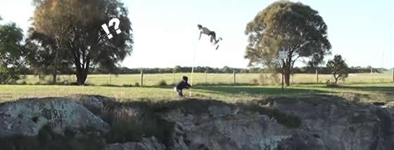 棒高跳びのトリックプレー