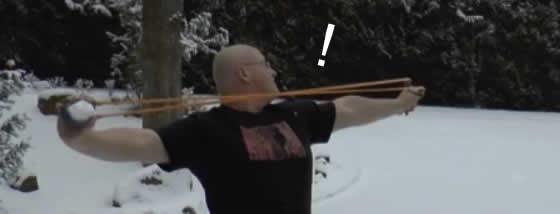 雪球スリングショット