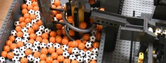 レゴで作った巨大オートメーション装置