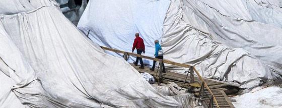 氷河に毛布をかける