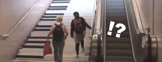運動不足解消!?エスカレーターを使わずに階段を使いたくなる方法!