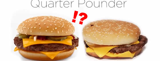 マクドナルドの商品を広告と実物で比べてみよう