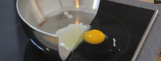IH調理器を使った実験