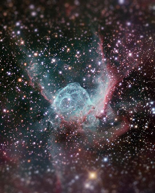 宇宙をミニチュア風の画像にしてみると5