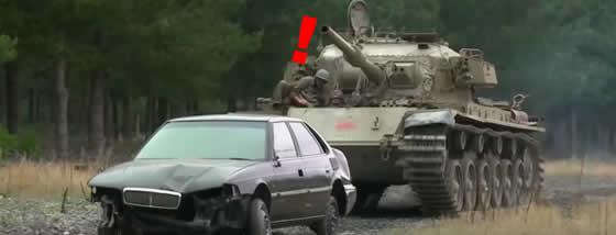 ストレス解消に戦車を使う