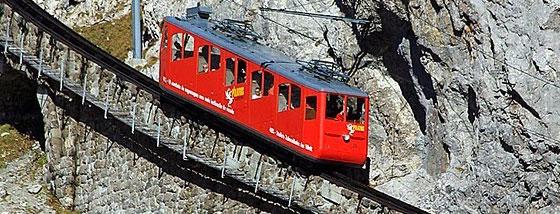 世界で最も急勾配を走る歯車鉄道
