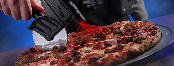 戦略的レーザーポイントピザカッター