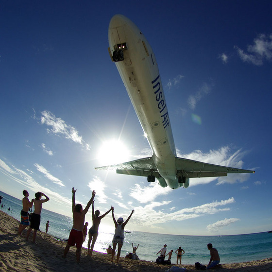 マホビーチの空港15