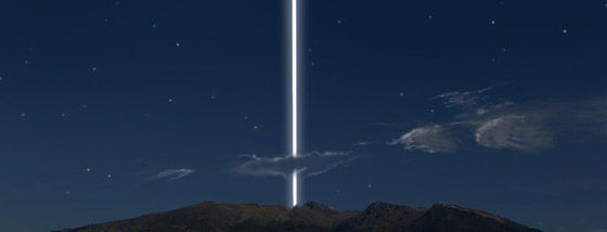 地球に土星の輪があったら