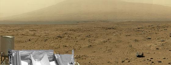 NASAが発表した10億ピクセルの火星の画像がよく見える