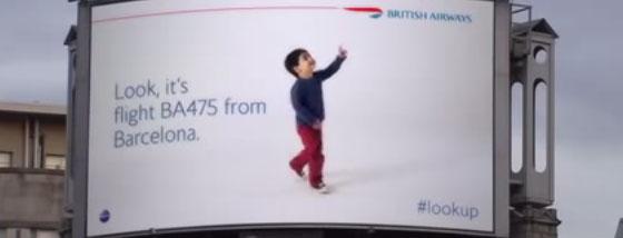 ブリティッシュ・エアウェイズのハイテク広告