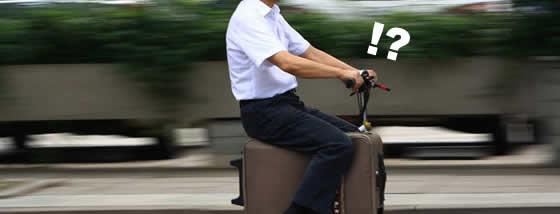 旅行に行くならスーツケースに乗っていけば