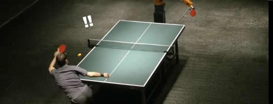 ロボットと卓球対戦1