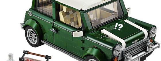LEGOで出来たクラシックミニクーパー