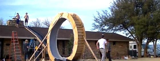 巨大なループスライダーに挑戦