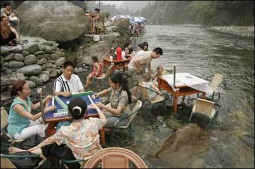 中国の避暑方法が凄い8