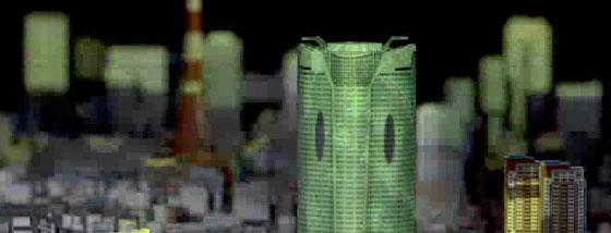 1000分の1スケールの東京と3Dプロジェクションマッピング