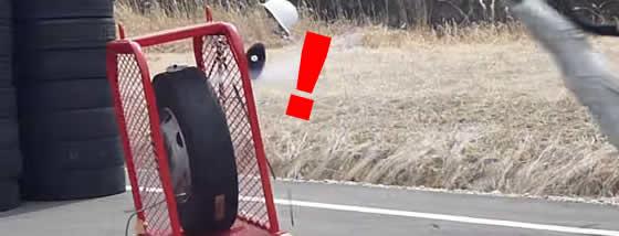 恐怖!!タイヤの爆発の威力で死亡事件