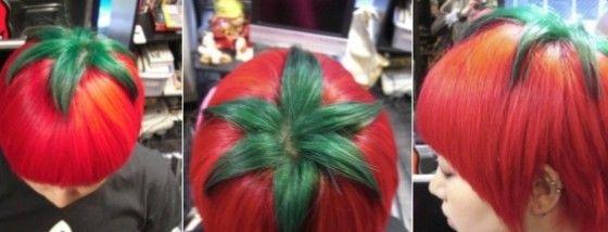 奇抜な髪型トマト